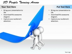 New Business Strategy 3d People Turning Arrow Adaptable Concepts