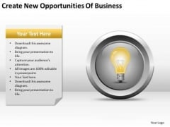 New Opportunities Of Business Ppt Plan For Sample PowerPoint Templates
