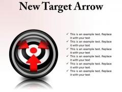 New Target Arrow Business PowerPoint Presentation Slides Cc