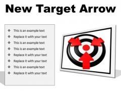 New Target Arrow Business PowerPoint Presentation Slides F