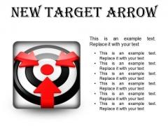 New Target Arrow Business PowerPoint Presentation Slides S