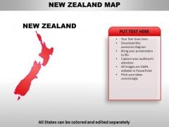 New Zealand PowerPoint Maps