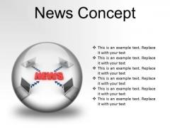 News Concept Computer PowerPoint Presentation Slides C
