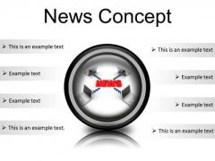News Concept Computer PowerPoint Presentation Slides Cc