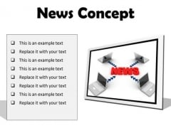 News Concept Computer PowerPoint Presentation Slides F