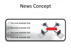 News Concept Computer PowerPoint Presentation Slides R
