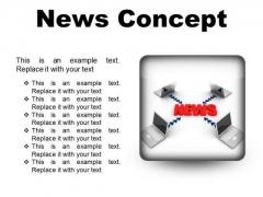 News Concept Computer PowerPoint Presentation Slides S