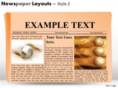 Newspaper Headline Layout PowerPoint Slides And Editable Ppt Graphics