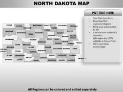 North Dakota PowerPoint Maps