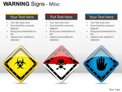 Noxious Warning Signs PowerPoint Slides And Ppt Diagram Templates