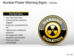 Nuclear Power Warning Signs Radiation PowerPoint Slides And Ppt Diagrams