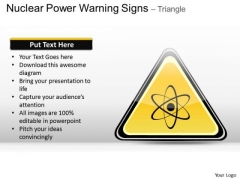 Nuclear Power Warning Signs Triangle PowerPoint Slides And Ppt Diagram Templates