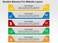 Number Banners For Website Layout PowerPoint Templates