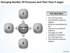 Number Of Processes And Their Stages Cycle Motion Chart PowerPoint Templates