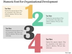 Numeric Font For Organizational Development Presentation Template