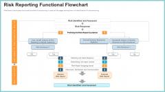 OP Risk Management Risk Reporting Functional Flowchart Infographics PDF