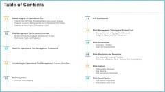 OP Risk Management Table Of Contents Elements PDF