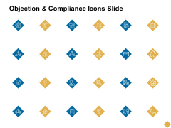 Objection And Compliance Icons Slide Ppt PowerPoint Presentation Styles Pictures