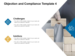 Objection And Compliance Solutions Ppt PowerPoint Presentation Show Model