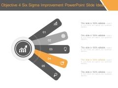 Objective 4 Six Sigma Improvement Powerpoint Slide Ideas