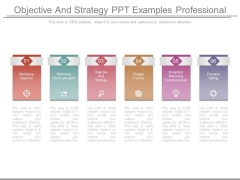 Objective And Strategy Ppt Examples Professional