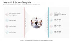 Objective To Improve Customer Experience Issues And Solutions Template Elements PDF