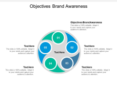 Objectives Brand Awareness Ppt PowerPoint Presentation Icon Slides Cpb