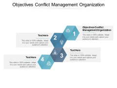 Objectives Conflict Management Organization Ppt PowerPoint Presentation File Smartart Cpb