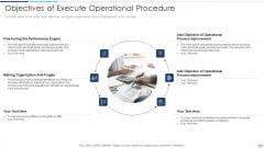 Objectives Of Execute Operational Procedure Icons PDF