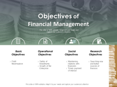Objectives Of Financial Management Ppt Powerpoint Presentation Layouts Portrait