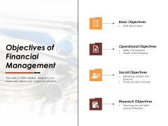 Objectives Of Financial Management Ppt PowerPoint Presentation Pictures Designs Download