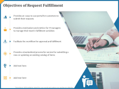 Objectives Of Request Fulfillment Ppt Pictures Gridlines PDF