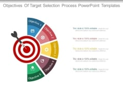 Objectives Of Target Selection Process Powerpoint Templates
