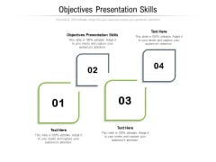 Objectives Presentation Skills Ppt PowerPoint Presentation Gallery Mockup Cpb Pdf