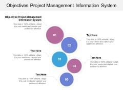 Objectives Project Management Information System Ppt PowerPoint Presentation Ideas Deck Cpb
