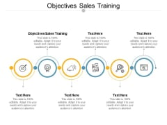 Objectives Sales Training Ppt PowerPoint Presentation Slides Ideas Cpb