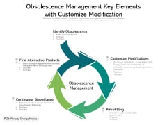 Obsolescence Management Key Elements With Customize Modification Ppt PowerPoint Presentation Layouts Background Images PDF