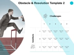 Obstacle And Resolution Solution Ppt PowerPoint Presentation Outline Structure
