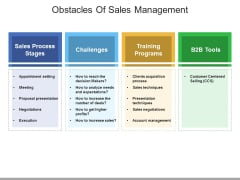Obstacles Of Sales Management Ppt PowerPoint Presentation File Aids