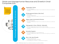 Obtain And Manage Human Resources And Diversity In Small Companies Background PDF