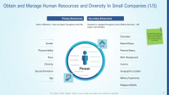 Obtain And Manage Human Resources And Diversity In Small Companies Icon Elements PDF