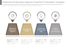 Obtainment Of Business Objective Powerpoint Presentation Templates