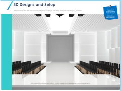 Occasion Planning Firm Overview 3D Designs And Setup Ppt Infographics Ideas PDF