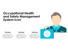 Occupational Health And Safety Management System Icon Ppt PowerPoint Presentation Gallery Slides PDF