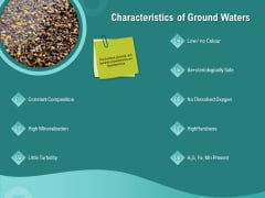 Ocean Water Supervision Characteristics Of Ground Waters Ppt File Rules PDF