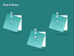 Ocean Water Supervision Post It Notes Infographics PDF