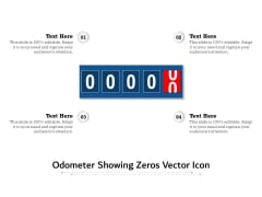 Odometer Showing Zeros Vector Icon Ppt PowerPoint Presentation Model Graphics Template PDF