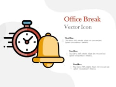 Office Break Vector Icon Ppt PowerPoint Presentation Outline Inspiration