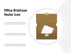 Office Briefcase Vector Icon Ppt PowerPoint Presentation Infographics Picture