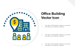 Office Building Vector Icon Ppt PowerPoint Presentation Gallery Smartart